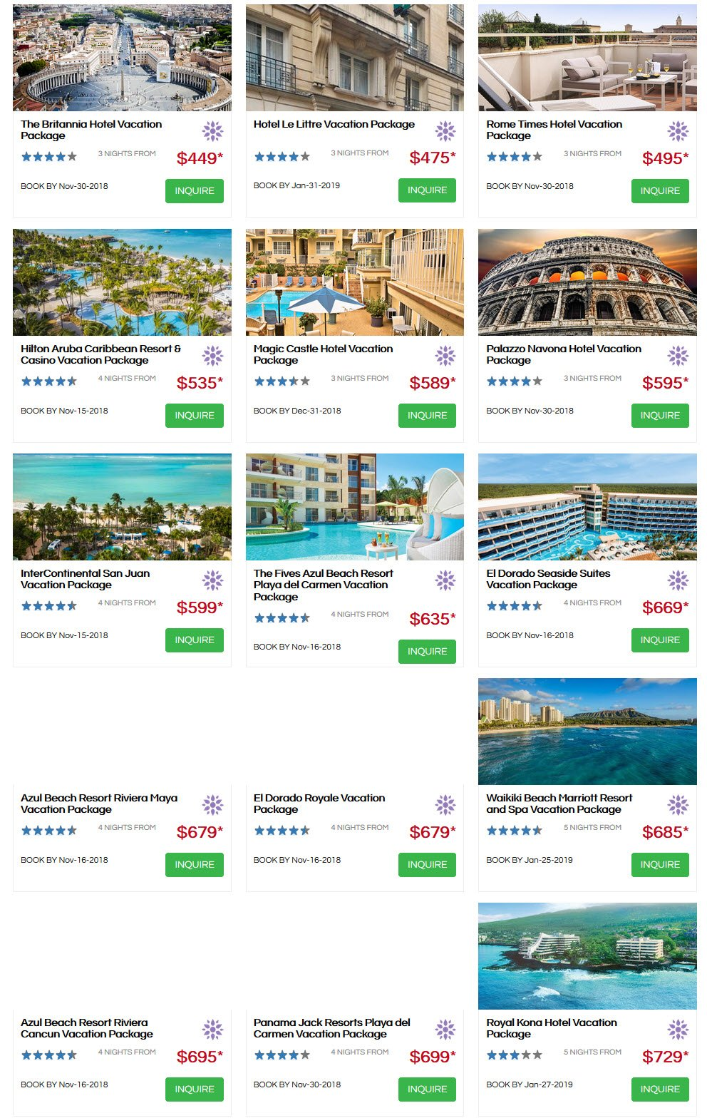 gogo vacation specials